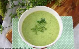 Суп из кабачков для детей до года